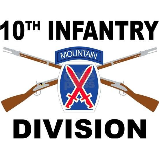 10th Infantry Division - Mountain - Crossed Rifles