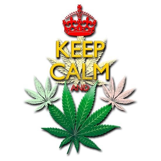 Keep Calm and Marijuana Leaf