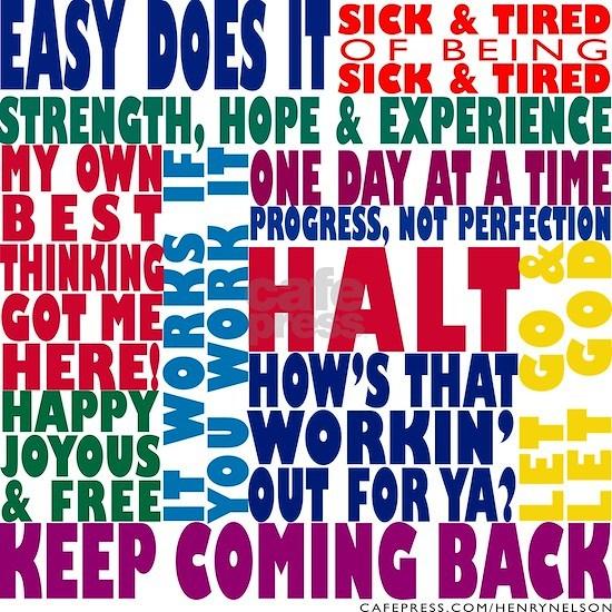 AA 12 Step Slogans 8k