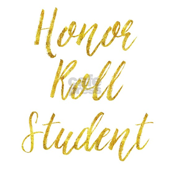 Honor Roll Student Gold Faux Foil Metallic Glitter