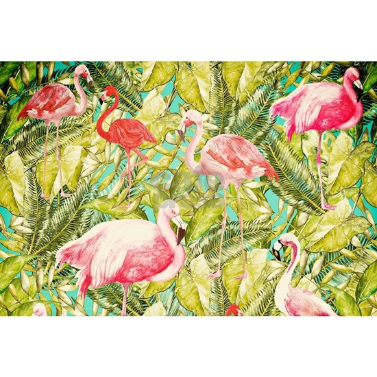 Aloha Tropical Flamingo Summer Animal Jungle Patte