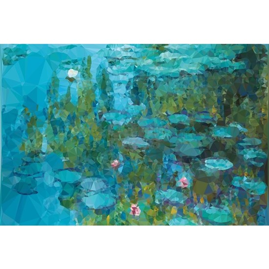 Monet Water Lilies Low Poly