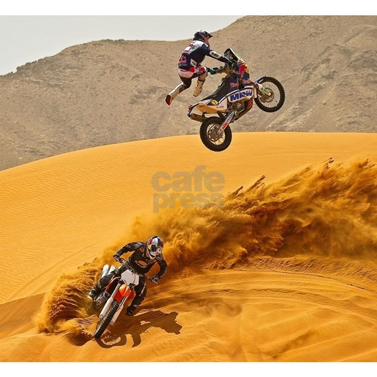 Motocross Riders Riding Sand Dunes