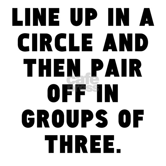 Line Up In A Circle