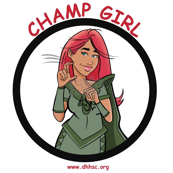 Champ Girl signs