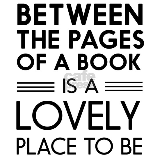 Between pages of book