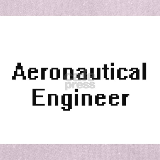 Aeronautical Engineer Retro Digital Job Design