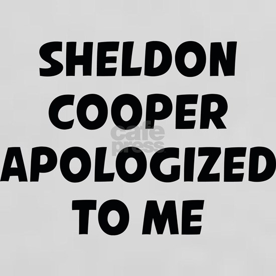 Sheldon Cooper Apologized To Me