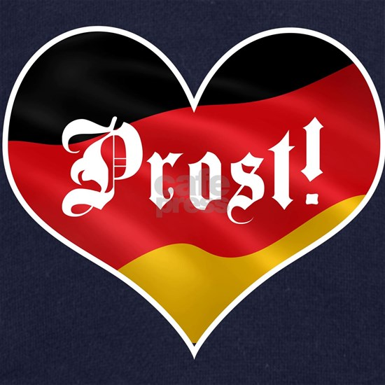 Prost Oktoberfest Heart German Drinking Germany He
