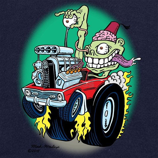 Zombie Hot Rod with Fez
