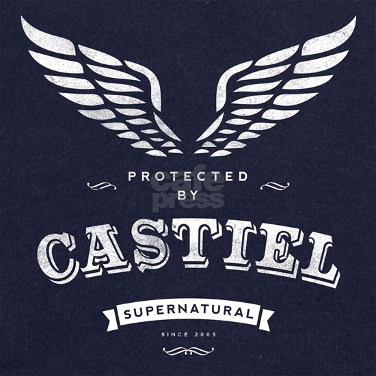 SUPERNATURAL Castiel Vintage white