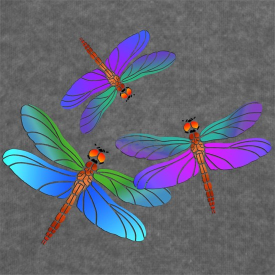 Dive Bombing Iridescent Dragonflies
