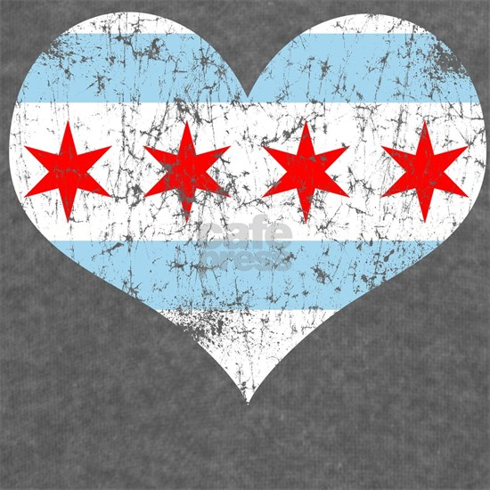 Chicago Flag Heart
