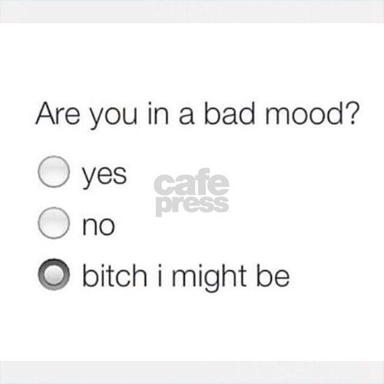 Are you in a bad mood ?