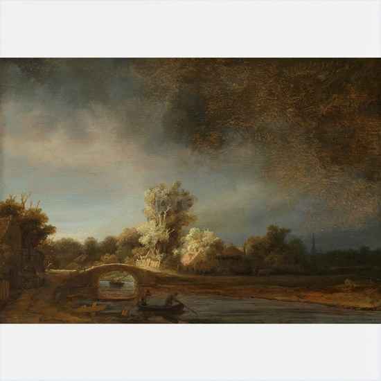 Landscape with a Stone Bridge - Rembrandt - c1638