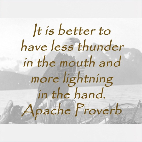 It Is Better To Have Less Thunder