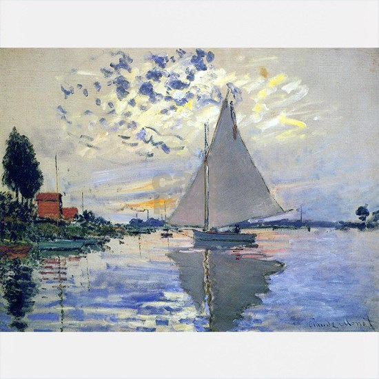 Claude Monet Sailboat