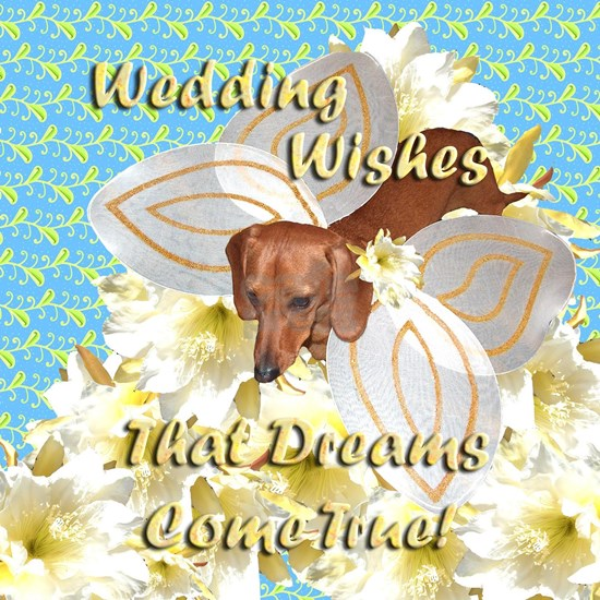 wedding wishes dachshund dog