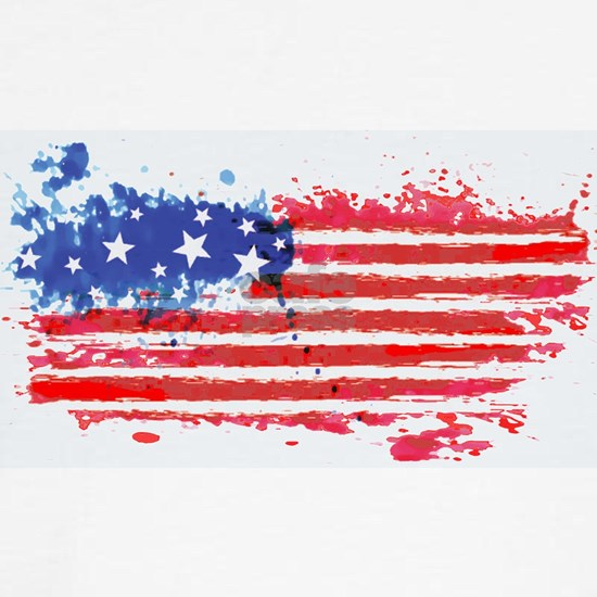 watercolor grunge American Flag