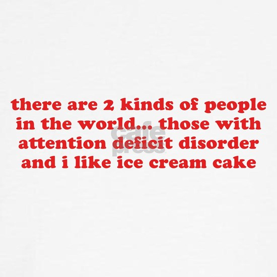 ADD ADHD Funny Quote Humor - Red