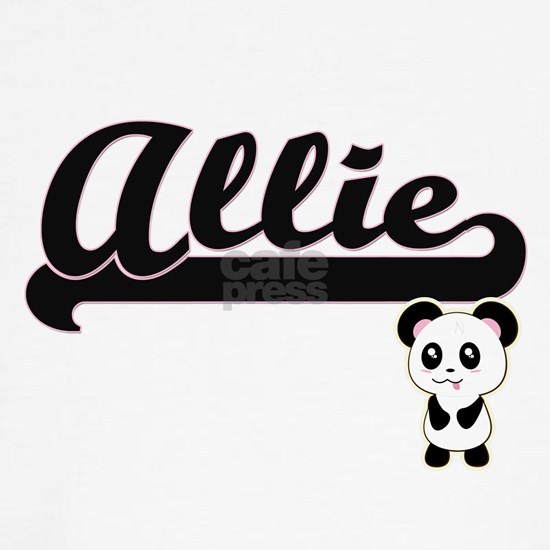 Allie Classic Retro Name Design with Panda
