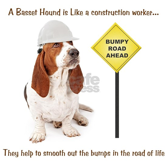 Basset Hound Construction Worker