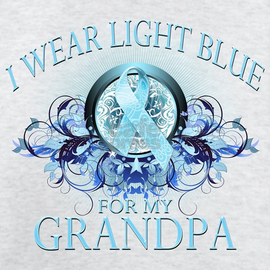 I Wear Light Blue for my Grandpa (floral)