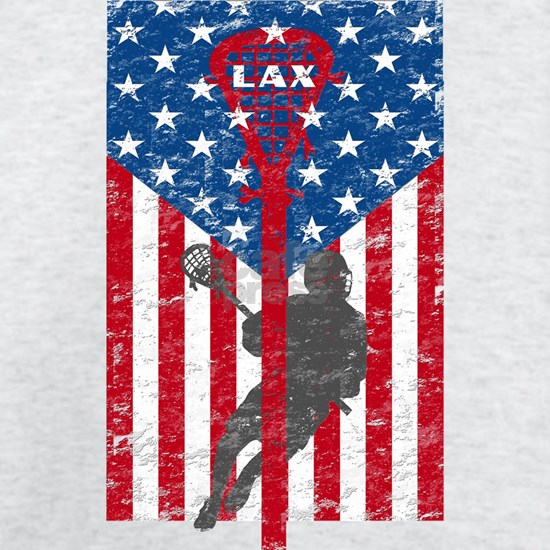 American Flag Red White and Blue LAX Lacrosse Grun