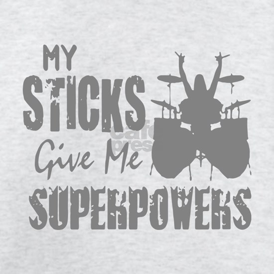 my sticks give me soperpowers music t-shirts
