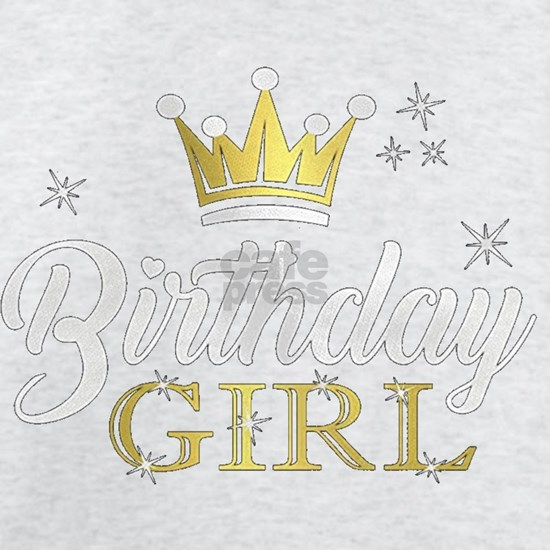 Birthday Girl Party Princess Crown Girls Fitted