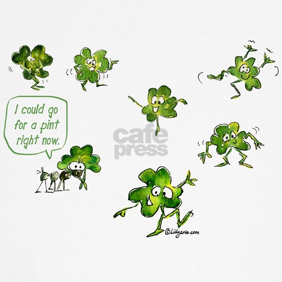 Cartoon Irish Shamrocks