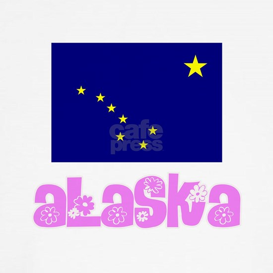 Alaska Flag Pink Flower Design