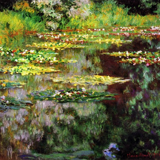 Claude Monet Sea Rose Pond