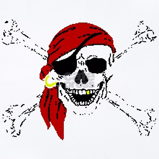 Pirate Skull and Bones, Red Bandanna
