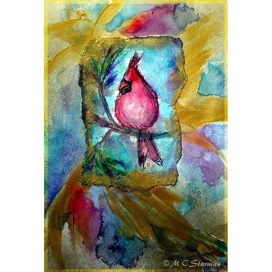 Cardinal, red bird art!