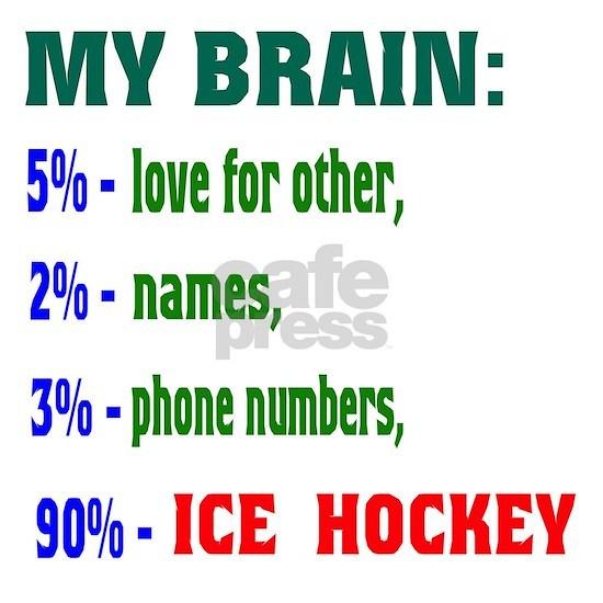 My Brain, 90% Ice Hockey