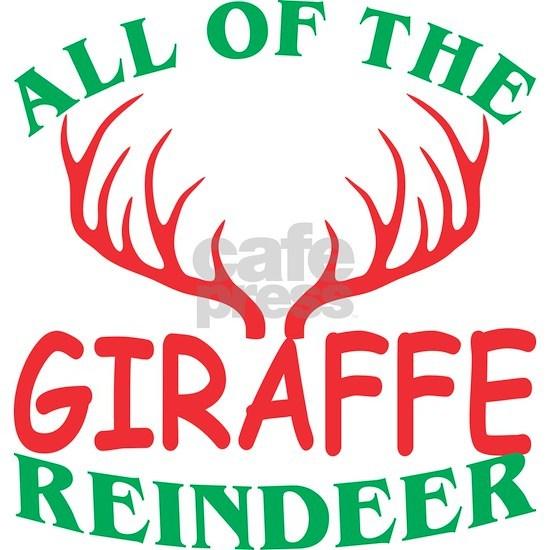 All Of The Giraffe Reindeer Christmas Xmas
