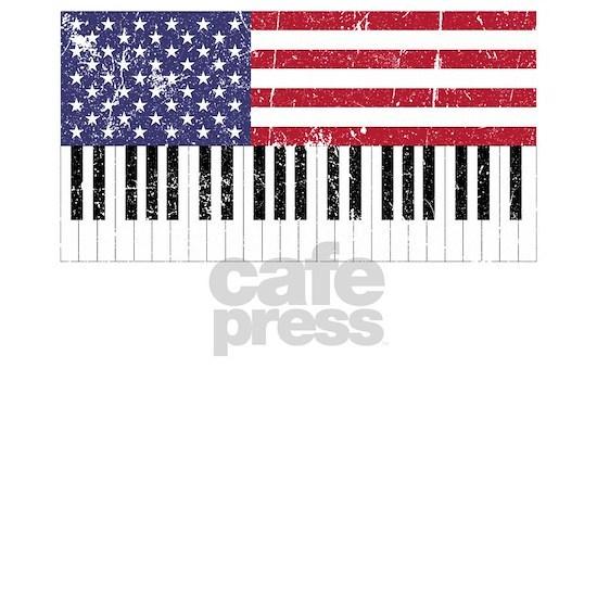 American Flag Piano design