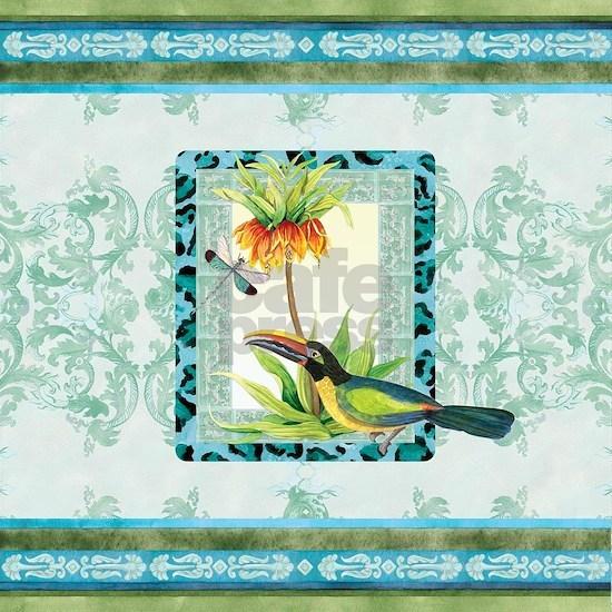 Botanical Toucan Dragonfly Leopard Print Damask Pa