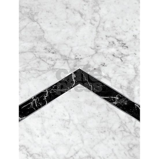 Arrows - White Marble & Black Granite #619