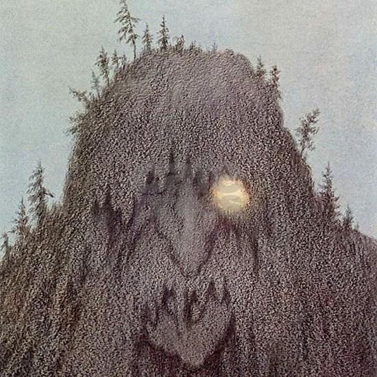 """""""Forest Troll - Skogtroll"""" by Theodor Kittelsen"""
