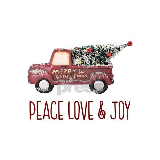 Vintage Toy Truck Peace Love & Joy