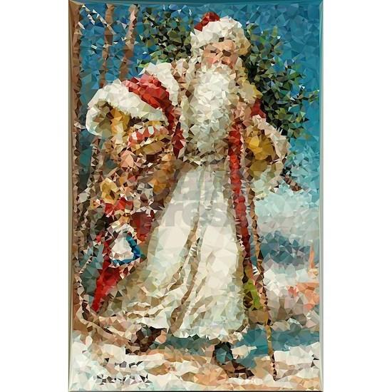 Vintage Santa Claus Low Poly