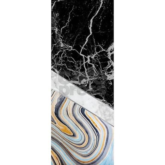 Arrows - Black Granite, White Marble & Blue Ma