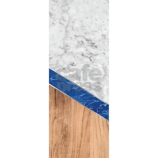 Arrows - White Marble, Blue Granite & Wood #43