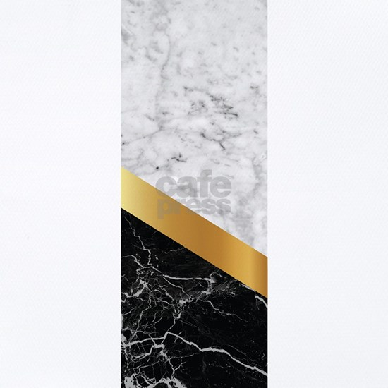 Arrows - White Marble, Gold & Black Granite #1