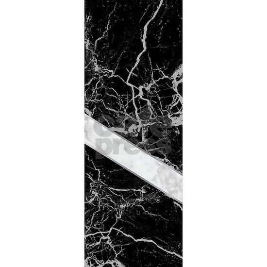 Arrows - Black Granite & White Marble #992