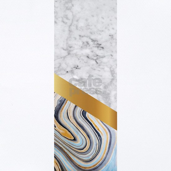 Arrows - White Marble, Gold & Blue Marble #610