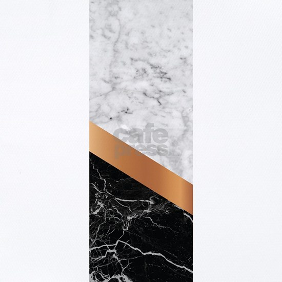 Arrows - White Marble, Rose Gold & Black Grani