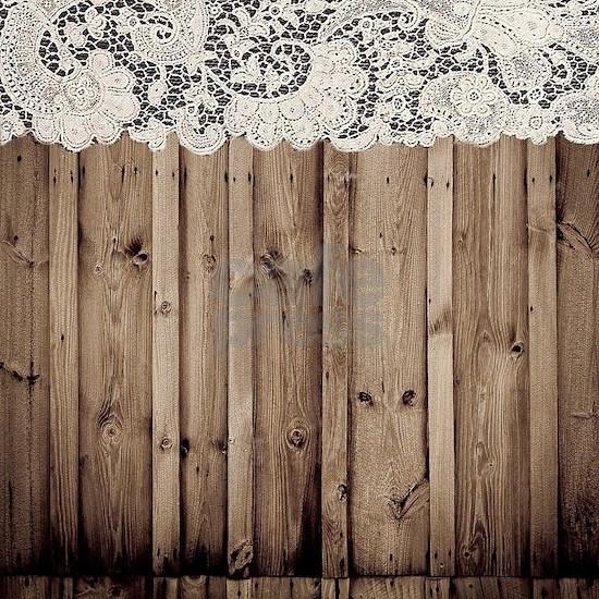 shabby chic lace barn wood